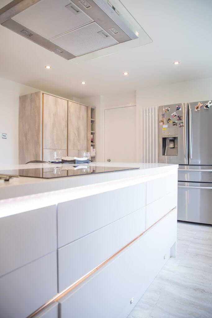 White luxury kitchen renovated by installers