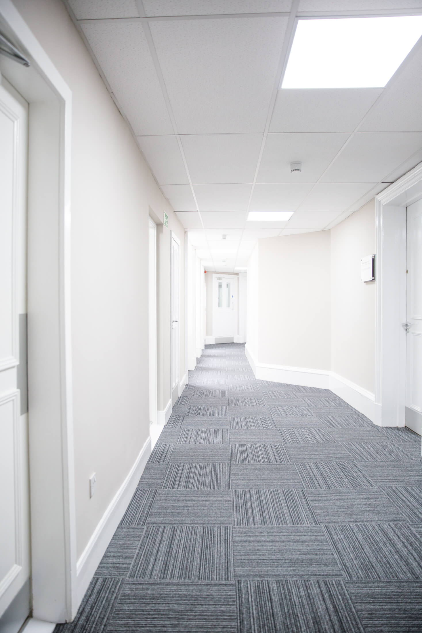 Restored by FIX LTD, hallway in the office complex in Glasgow