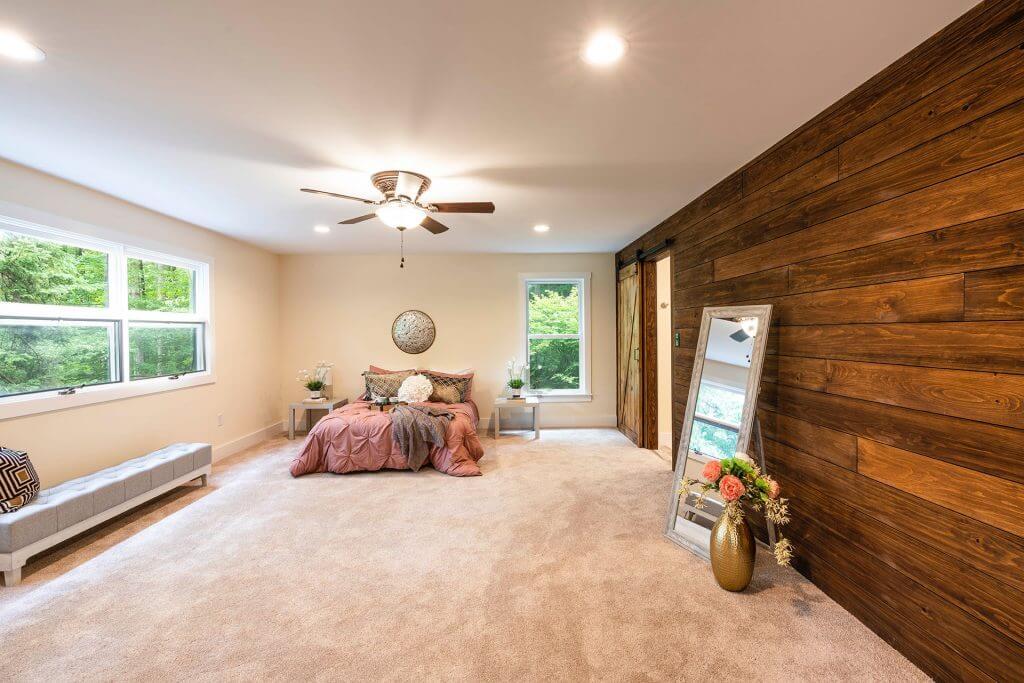 Basement conversion effect. Bedroom performed by renovation company FIX LTD