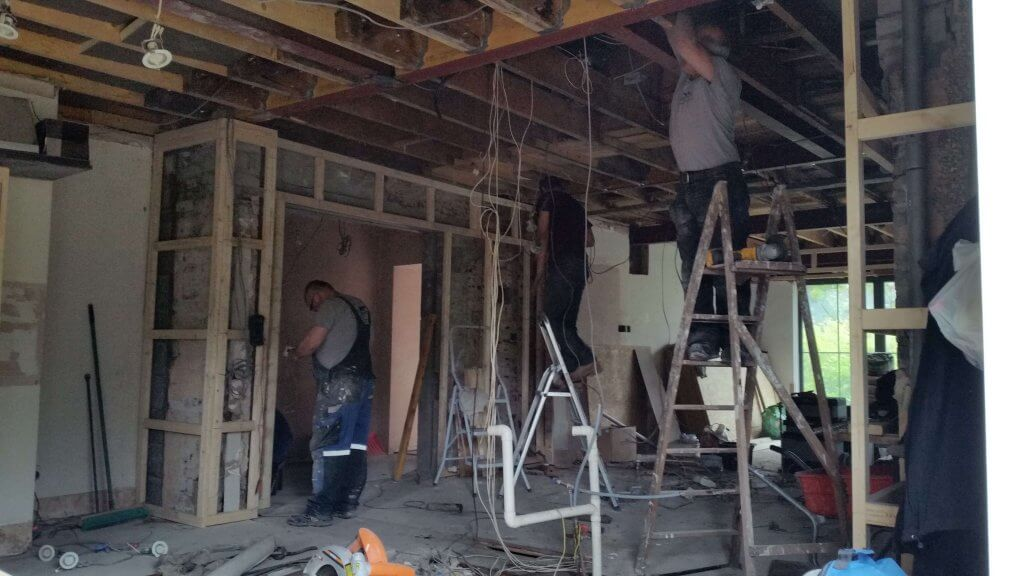 home builders at work