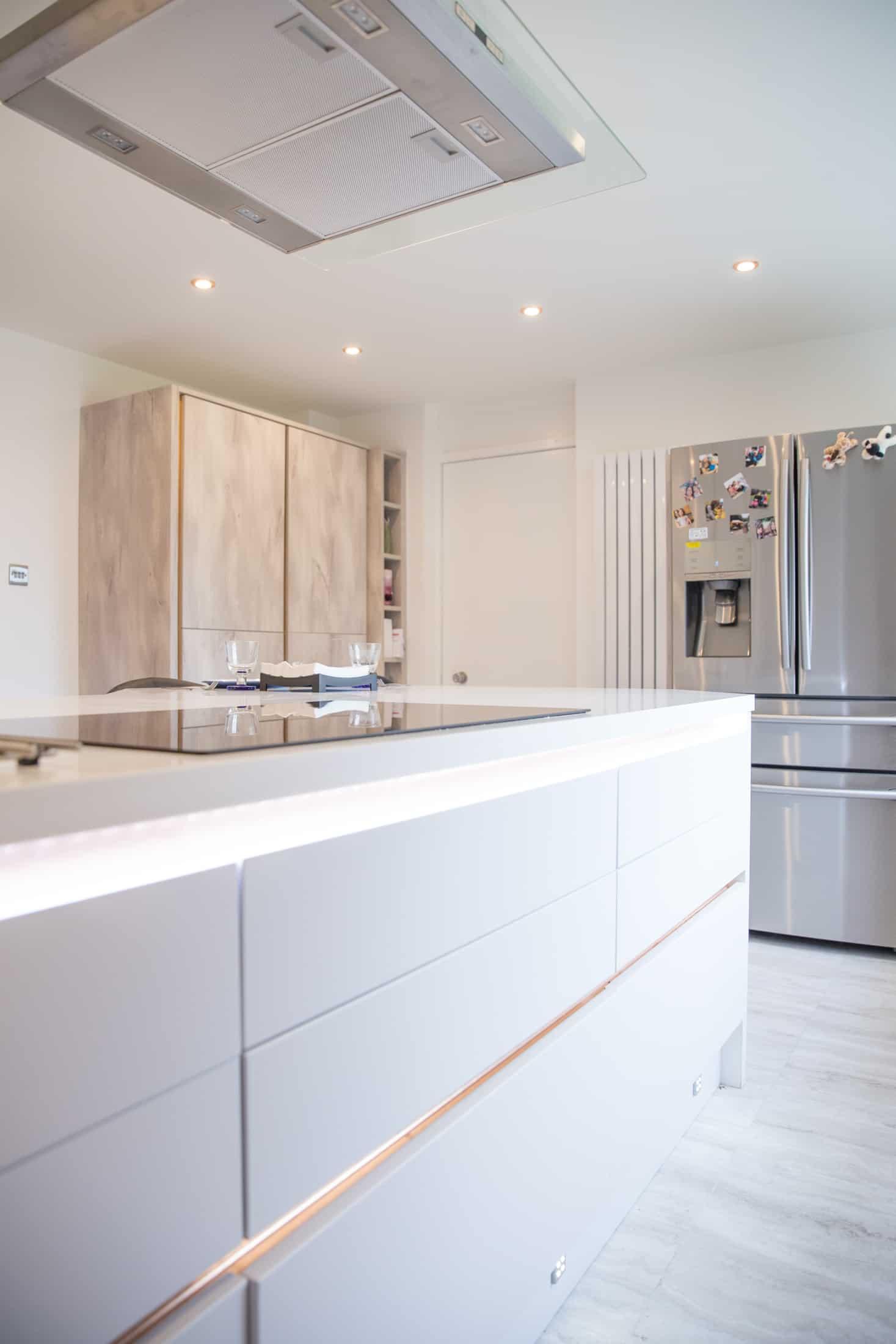 kitchen in renovated apartment , Glasgow