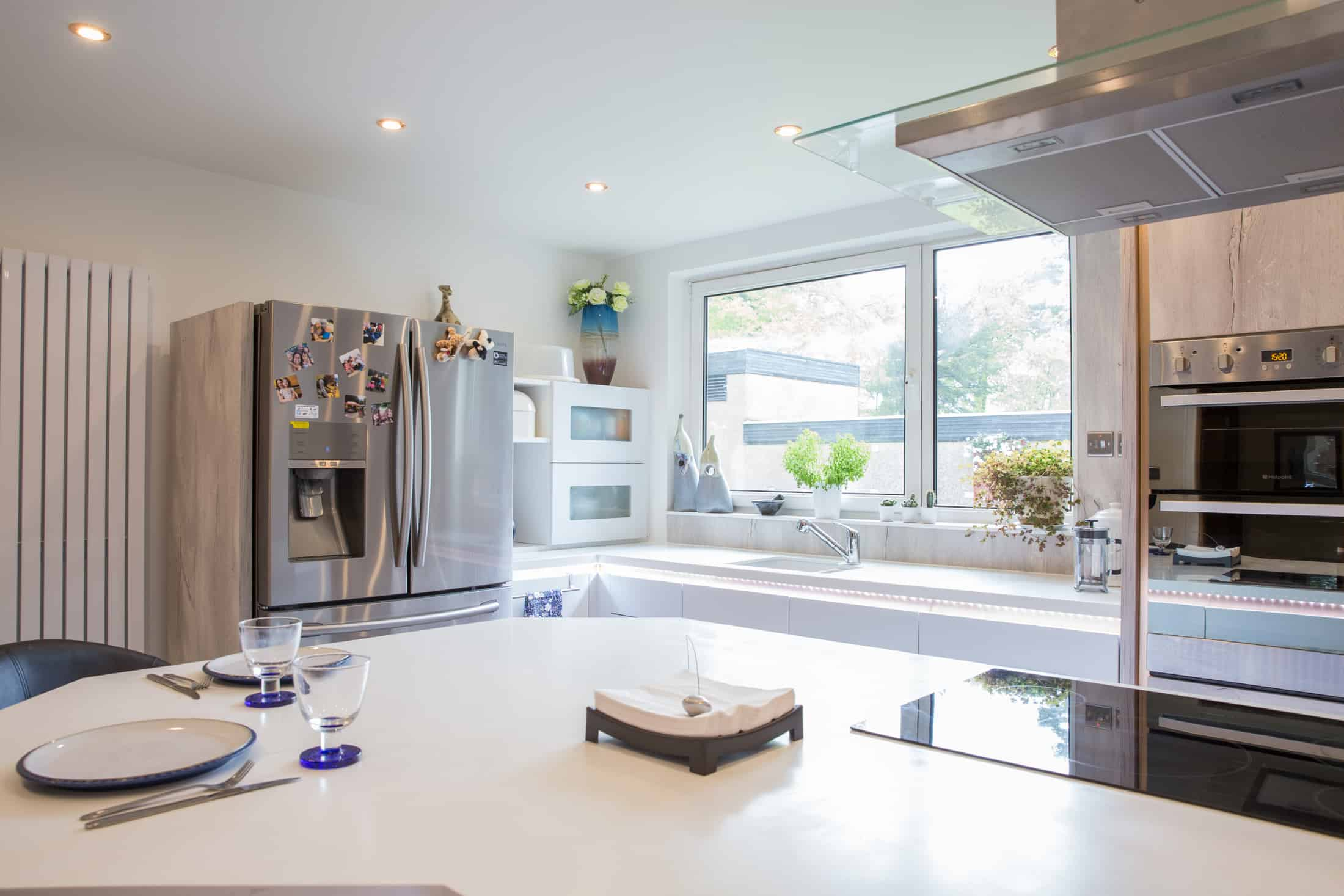 a fully furnished kitchen which was performed by the best kitchen installers in Glasgow