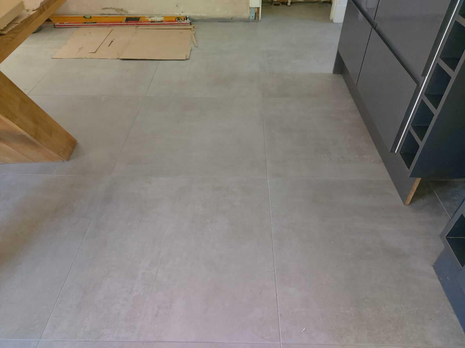floor tiles in the garage, Glasgow