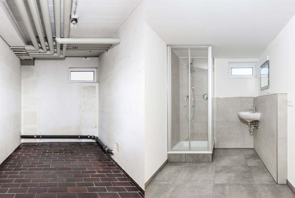 Basement conversion into small bathroom
