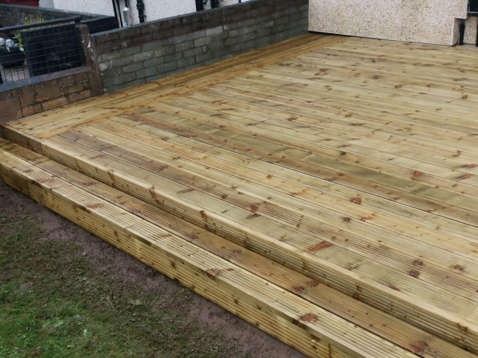 wooden patio, job exaple, FIX LTd Glasgow
