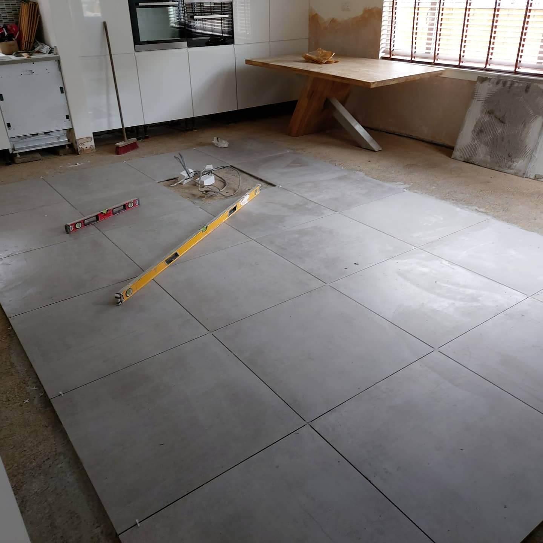 floor in the garage under remodelling, Glasgow, FIX LTD